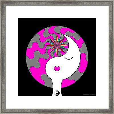 Yin Yang Crown 6 Framed Print