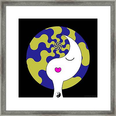 Yin Yang Crown 7 Framed Print