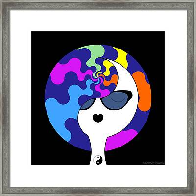 Yin Yang Crown 9 Framed Print