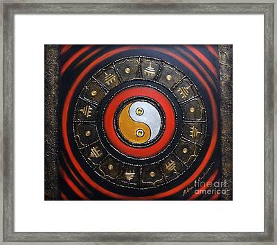 Yin Yang Energy Framed Print