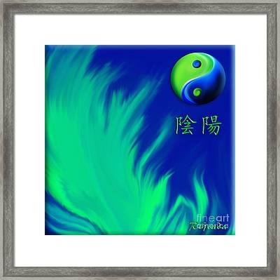 Yin Yang Framed Print by Giada Rossi