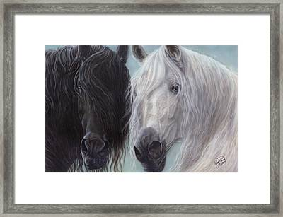 Yin-yang Horses  Framed Print