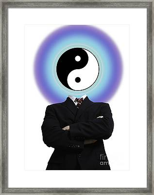 Yin Yang In A Man Framed Print