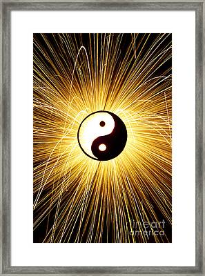 Yin Yang Light Framed Print by Tim Gainey