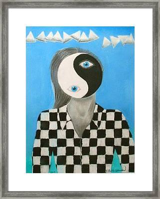 Yin Yang Man Framed Print