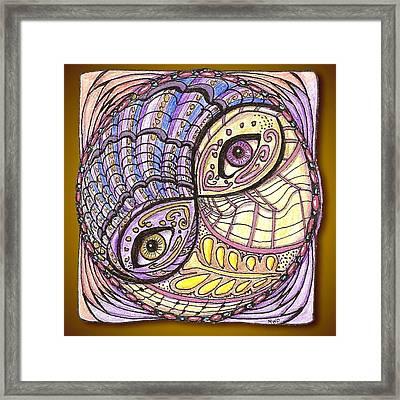 Yin Yang Framed Print by Melinda DeMent