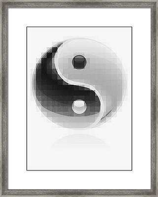 Yin Yang Mosaic Framed Print