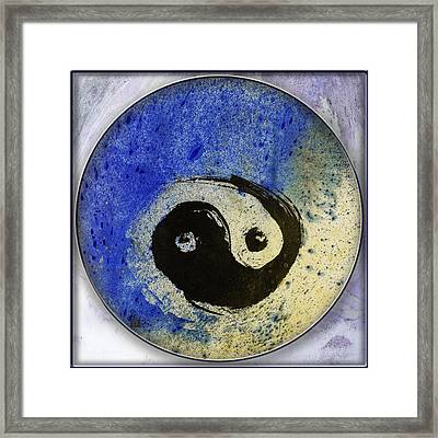 Yin Yang Painting Framed Print by Peter v Quenter