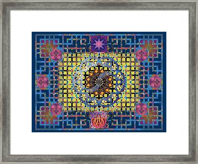 Yin Yang Star Framed Print