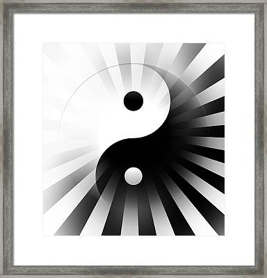 Yin Yang Power Framed Print by Daniel Hagerman