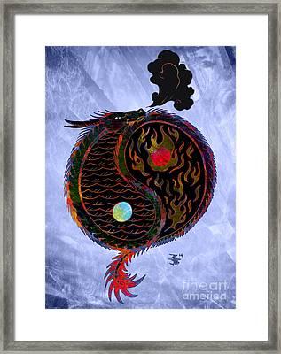 Ying Yang Dragon Framed Print by Robert Ball