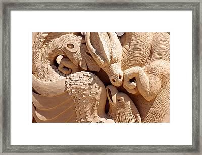 Ying Yang Sand Castle Framed Print by Laura Duhaime