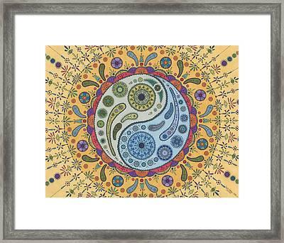 Yinyang Framed Print by Pamela Schiermeyer