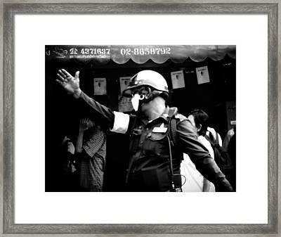 Ymca Cop  Framed Print by A Rey