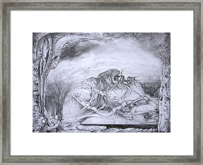 Ymir At Rest Framed Print
