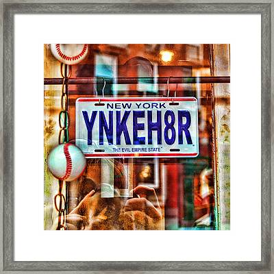 Ynkeh8r - Boston Framed Print by Joann Vitali