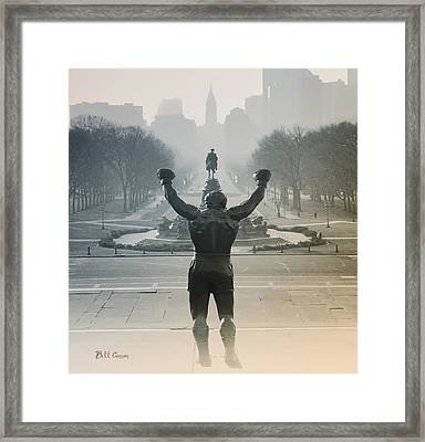 Yo Adrian Framed Print by Bill Cannon