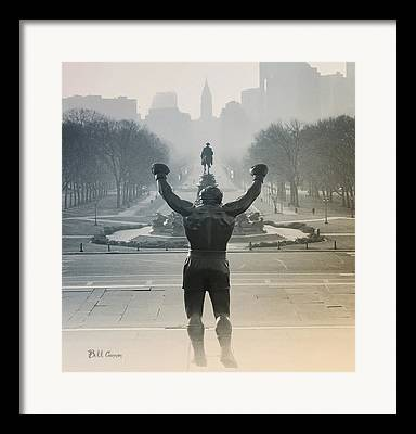 Philly Digital Art Framed Prints