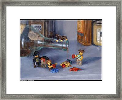 Yo-ho-ho And A Bottle Of Rum Framed Print by Diana Moses Botkin