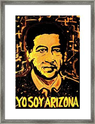 Yo Soy Arizona Framed Print
