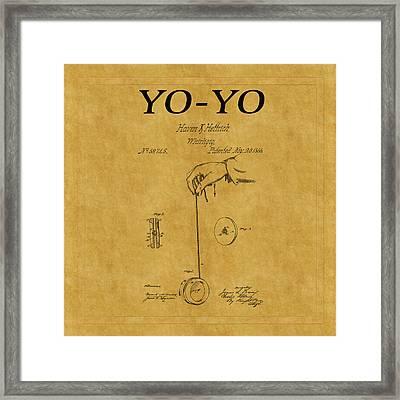Yo Yo Patent 1 Framed Print
