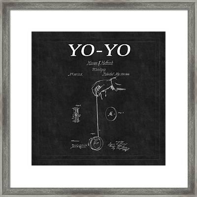 Yo Yo Patent 2 Framed Print