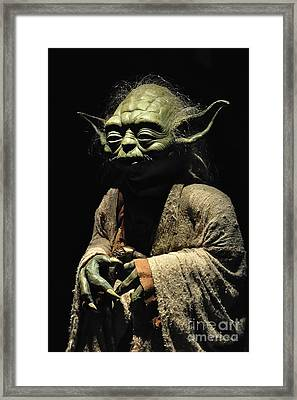 Yoda Framed Print by Baltzgar