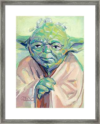 Yoda Framed Print by Kimberly Santini