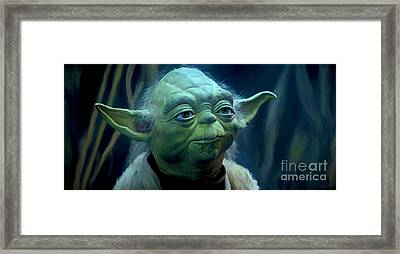 Yoda Framed Print by Paul Tagliamonte