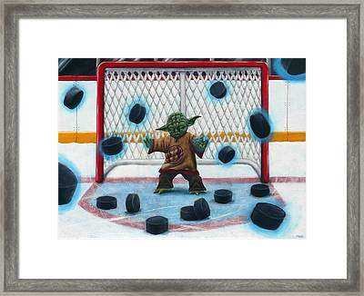 Yoda Saves Everything Framed Print