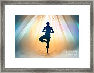 Yoga Balance Framed Print by Bedros Awak