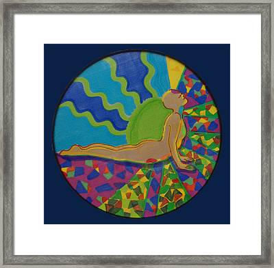 Yoga Cobra Pose Framed Print