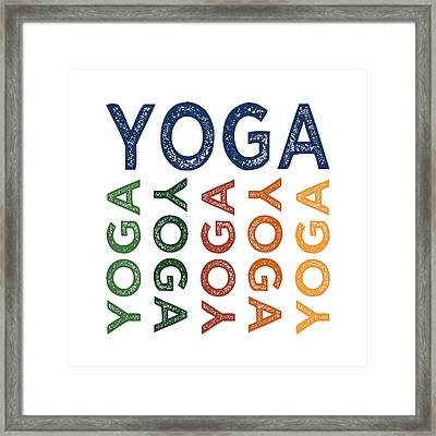 Yoga Cute Colorful Framed Print by Flo Karp