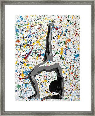 Yoga Down Pose Framed Print