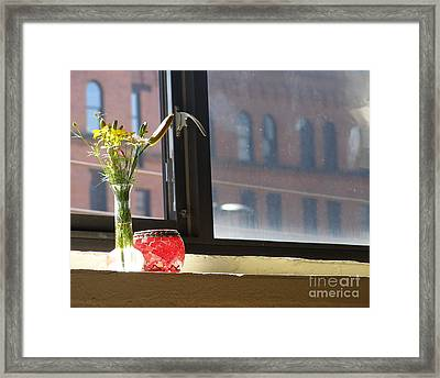 Yoga In The Sun Framed Print