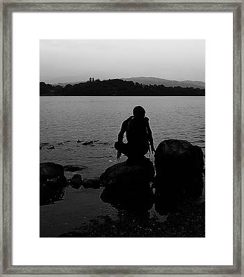 Yoga Framed Print by Martin Newman