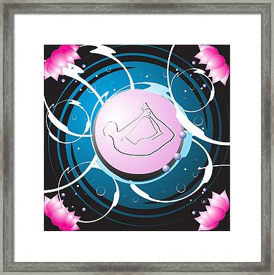 Yoga Framed Print by Mellisa Ward