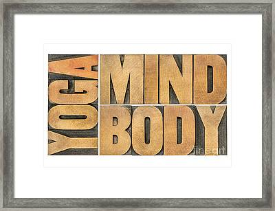 Yoga Mind And Body  Framed Print by Marek Uliasz