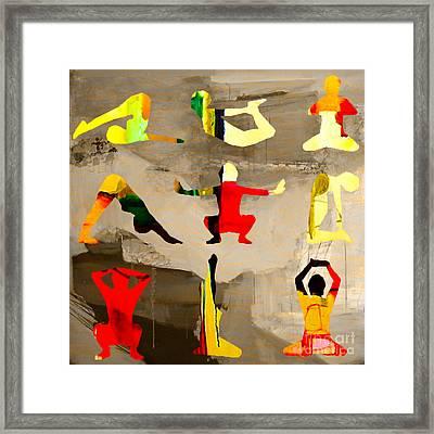 Yoga Poses Framed Print