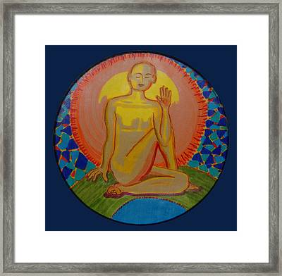 Yoga Seated Twist Framed Print
