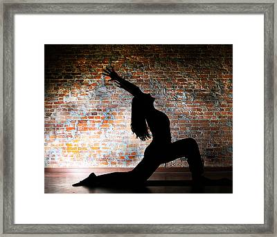 Yoga Silhouette 2 Framed Print by Shannon Beck-Coatney