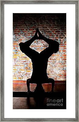 Yoga Silhouette 3 Framed Print by Shannon Beck-Coatney