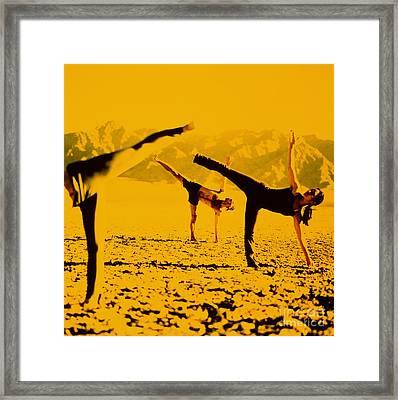 Yoga Half Moon Posture Framed Print by James Wvinner