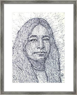 Yogananda - Pen Portrait Framed Print