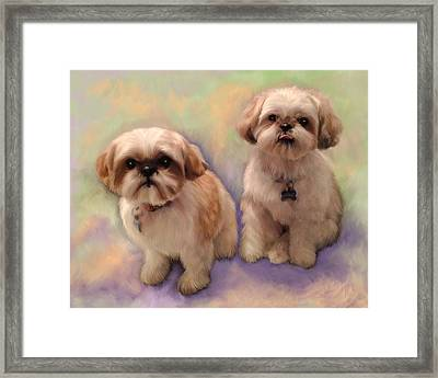 Yogi And Boo Boo Framed Print