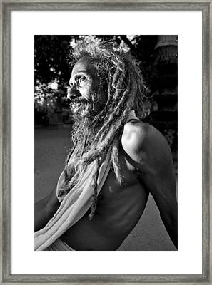 Yogi At Oachira Framed Print