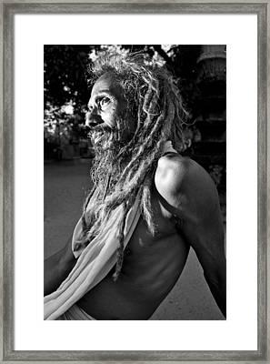 Yogi At Oachira Framed Print