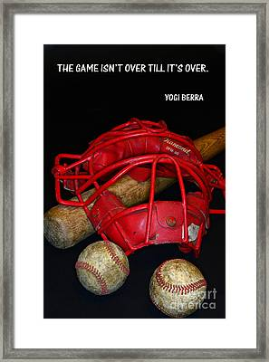 Yogi Berra On Baseball Framed Print