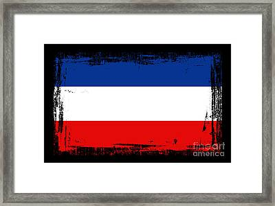 Beautiful Yogoslavia Flag Framed Print by Pamela Johnson