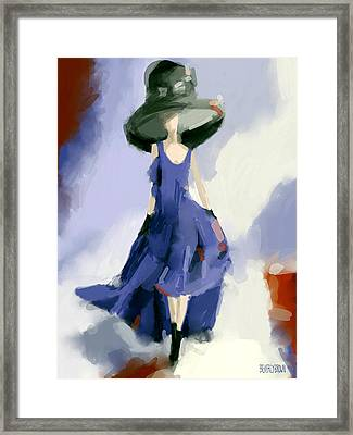 Yohji Yamamoto Fashion Illustration Art Print Framed Print by Beverly Brown